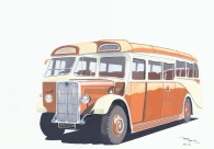 Keith boyle orange luxury coaches transport art Silver star motors doncaster